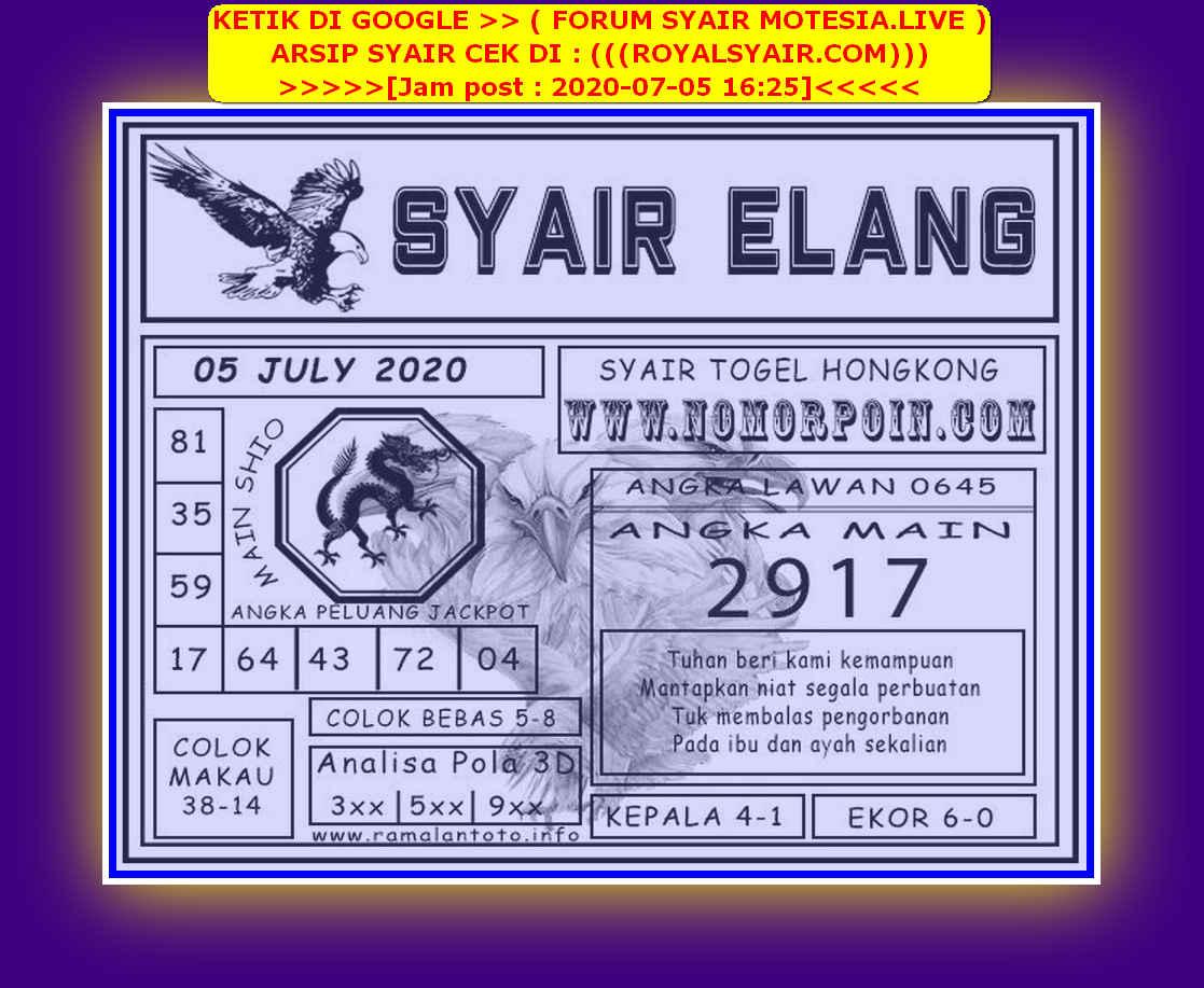 Kode syair Hongkong Minggu 5 Juli 2020 211