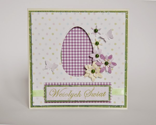 Ręcznie robiona kartka z jajkiem