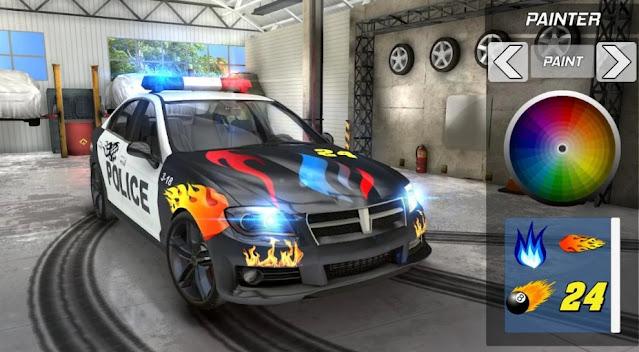لعبة محاكاة قيادة و انجراف سيارة الشرطة Real Police Car Drift Driving Simulator 3D 2