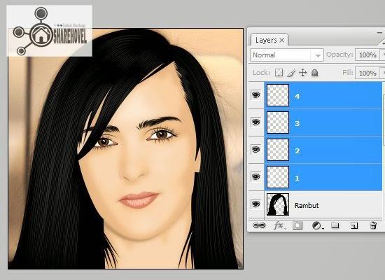 teknik membuat vector dan tracing rambut menggunakan photoshop - tutorial membuat vector di photoshop - membuat foto menjadi kartun dengan photoshop