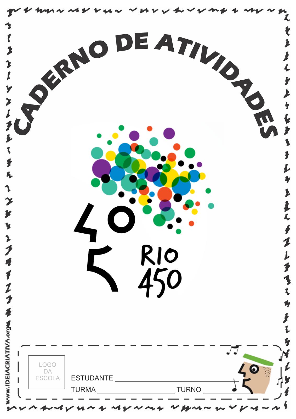 Caderno de Atividades em Comemoração aos 450 Anos do Rio de Janeiro