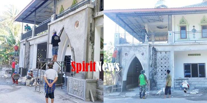 Imam Masjid Apresiasi Personel TMMD Ke-105, Perbaiki Masjid Nurul Hijra Desa Mattiro Ade