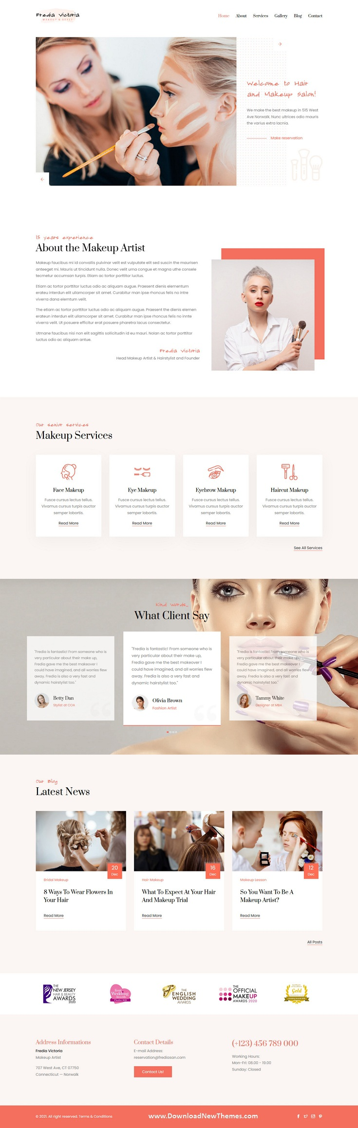 Makeup Artist and Hairstylist Template