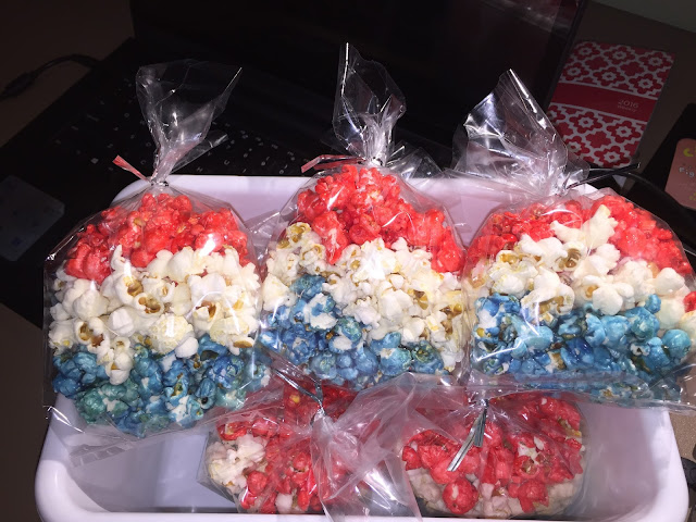 Waterfalls And Honey Days Red White And Blue Popcorn