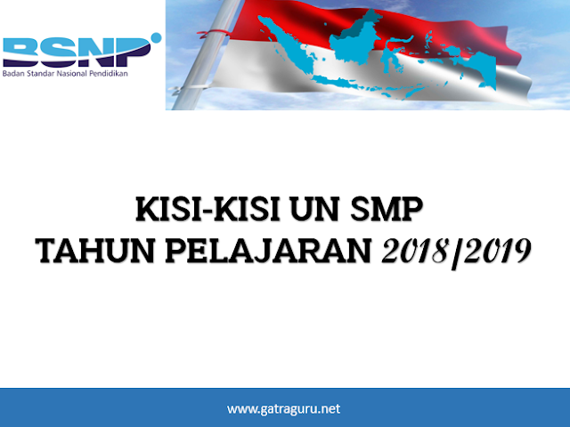Kisi-Kisi UN SMP 2018/2019