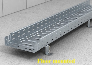 Floor mounted cable trays