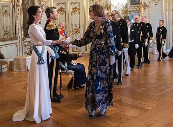 Crown Princess Mary had worn the dress on three other occasions before, including the New Year Diplomatic reception in 2016