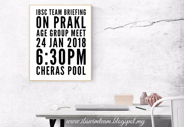 Team Briefing - PRAKL Age Group Swimming Championship 2018 | Notice
