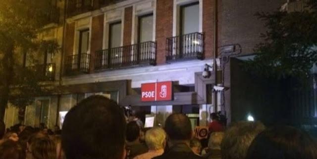 Detenida la líder de los neonazis de Hogar Social Madrid durante una protesta en Ferraz