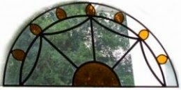 Antique Stained Glass Transom Window in our Dining Room