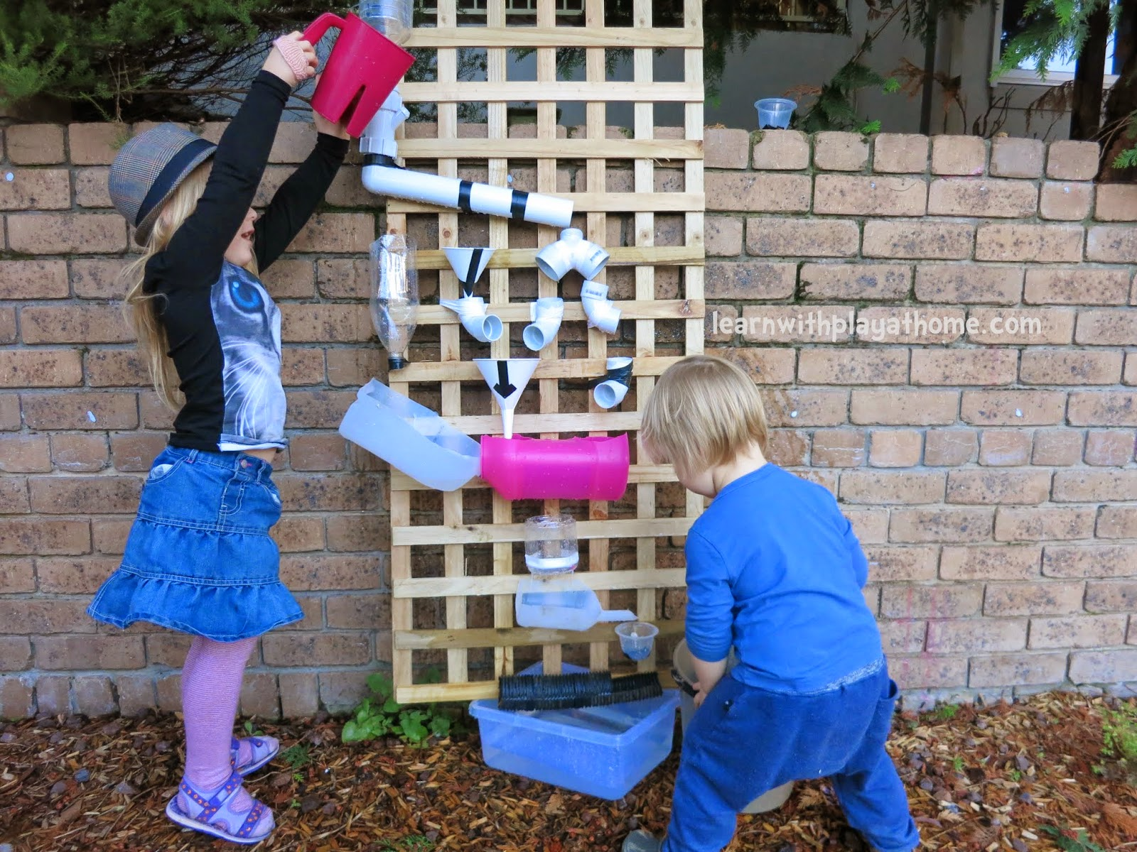 Walls For Kids Learn With Play At Home How To Make A Water Wall For Kids