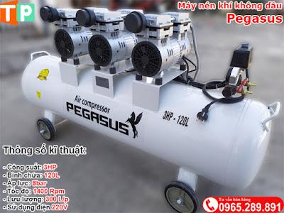 Máy nén khí không dầu Pegasus 3HP-120L