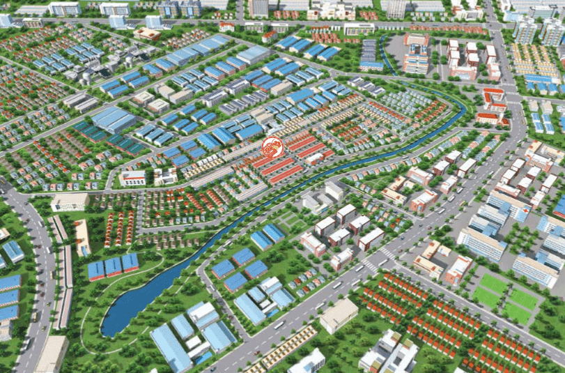 Tổng thể toàn khu dự án Newtown Center land