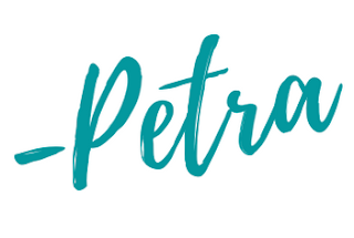teal font graphic of the word Petra