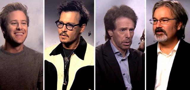 Armie Hammer - Johnny Depp - Jerry Bruckheimer - Gore Verbinski