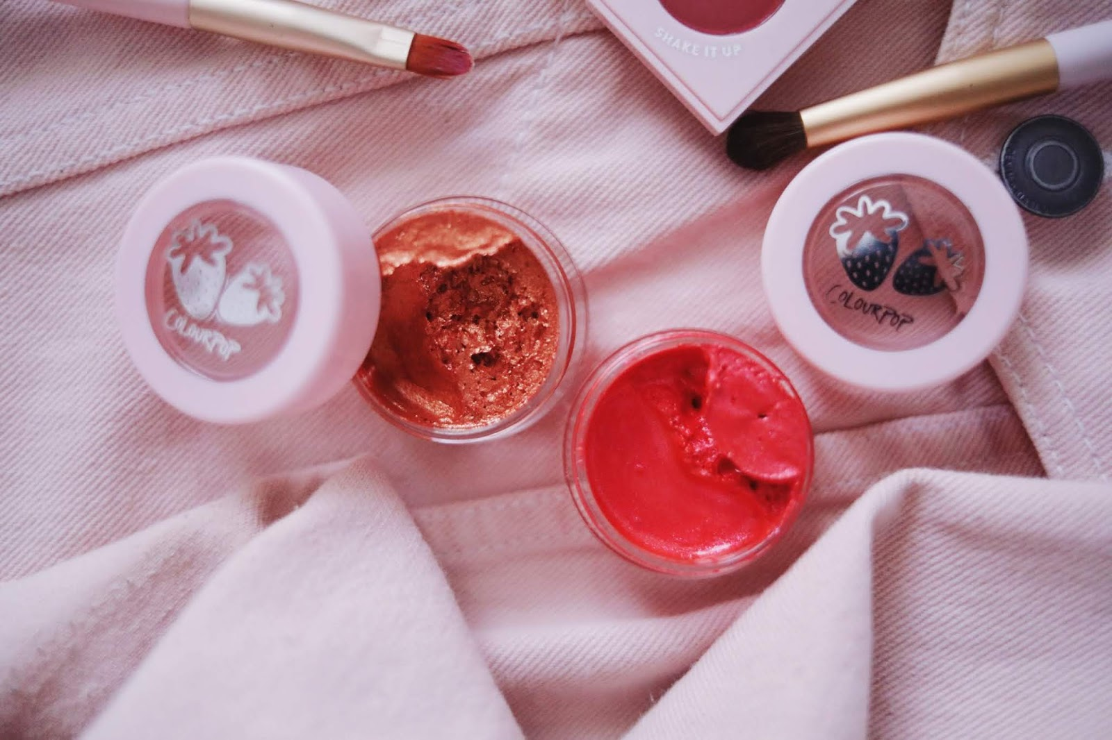 ColourPop , strawberry shake , strawberry collection , jelly Shadow , rose mademoiselle, rose mademoiselle, see u later , strawberry jam ,