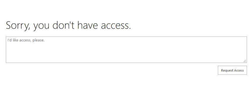 sharepoint online navigation settings access denied