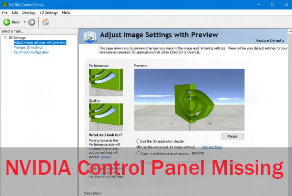 How to Fix NVIDIA Control Panel Missing on Windows 10
