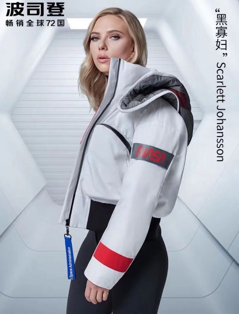 Scarlett Johansson Clicked for Bosideng x Nasafun 2020 Campaign