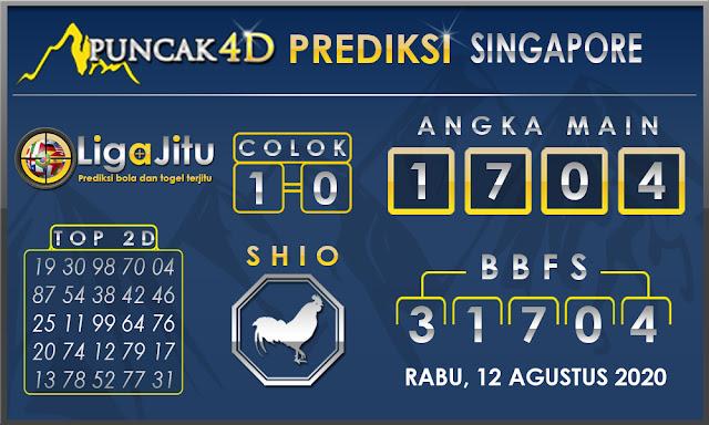 PREDIKSI TOGEL SINGAPORE PUNCAK4D 12 AGUSTUS 2020
