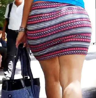 Mujeres caderonas mini falda