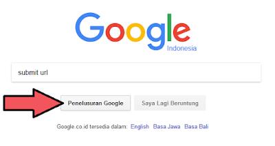 Ketik Submit URL di kotak pencarian google