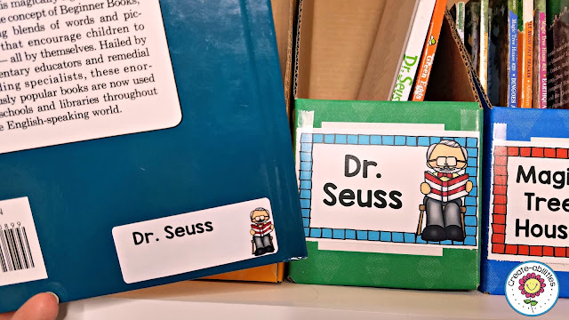Keep your classroom library neat and organized using these great suggestions and book labels from TpT Teacher-Author Create-Abilities!