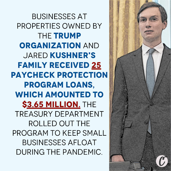 Businesses at properties owned by the Trump Organization and Jared Kushner's family received 25 Paycheck Protection Program loans, which amounted to $3.65 million. The Treasury Department rolled out the program to keep small businesses afloat during the pandemic. — Oma Seddiq, Politics Fellow, Business Insider