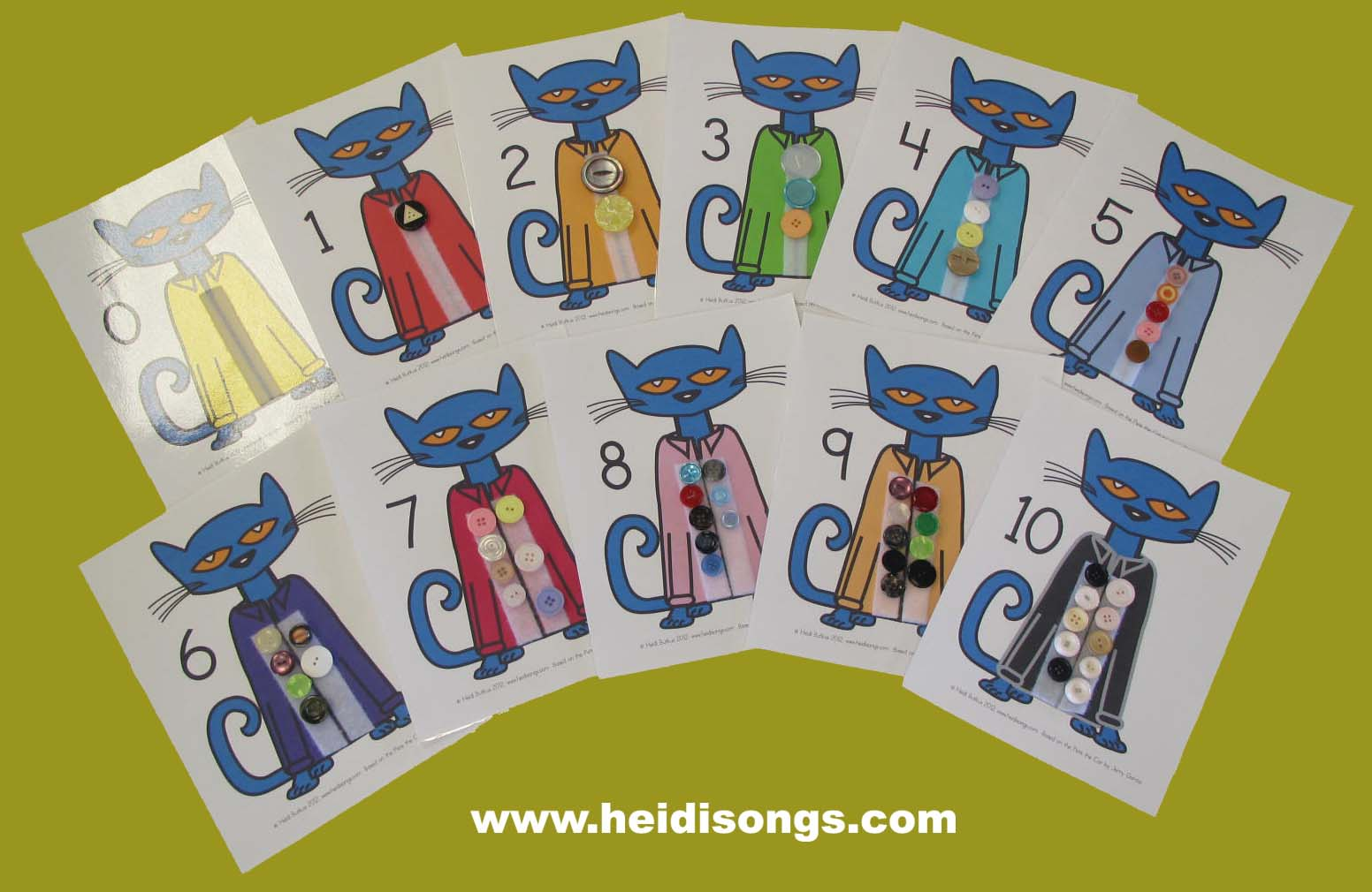 Pete The Cat Matching Sets