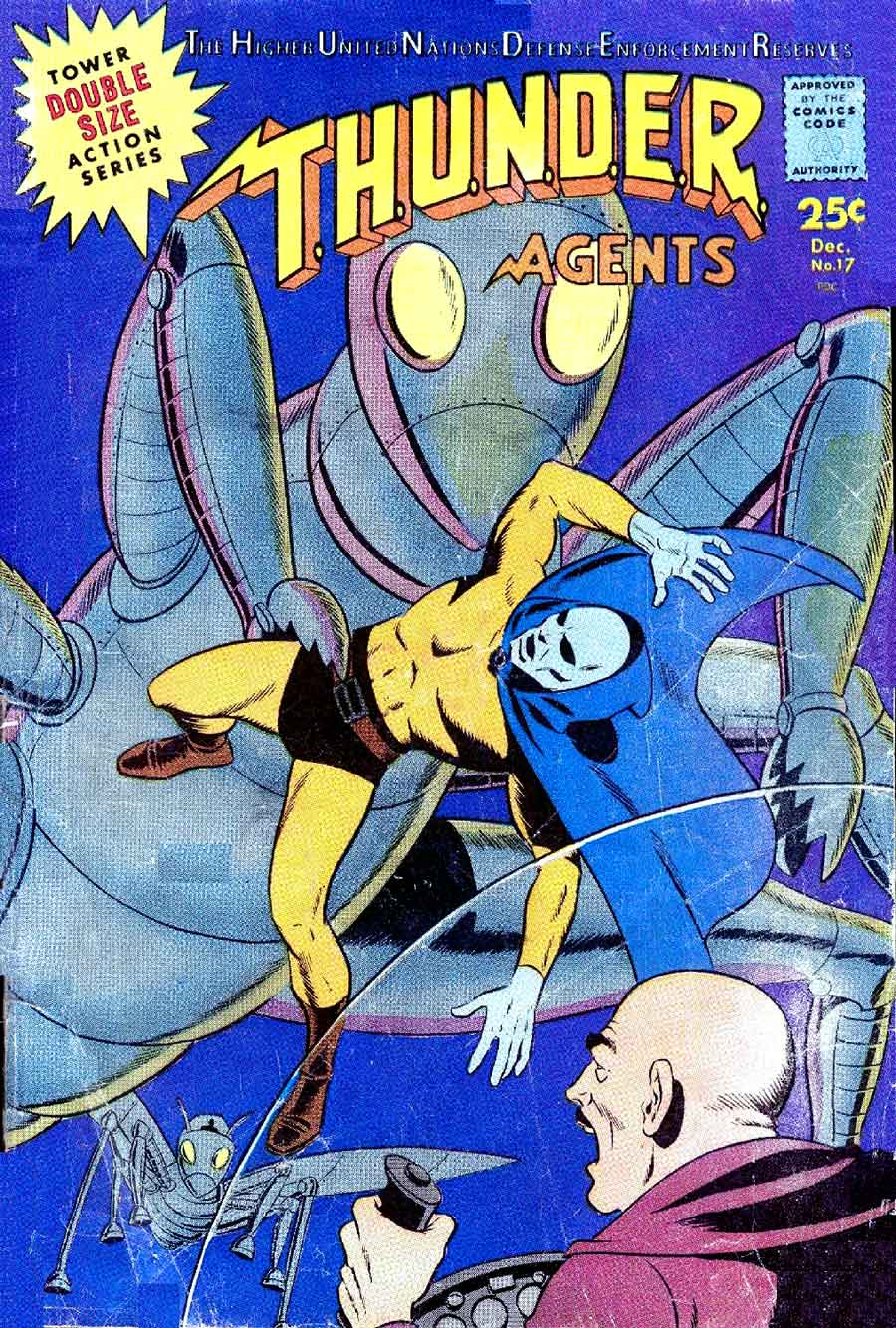 Thunder Agents v1 #17 tower silver age 1960s comic book cover art