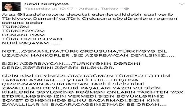 Azərbaycanlı olmaq üçün meyar Türkiyəyə olan məhəbbətlə ölçülür