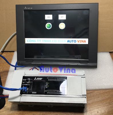 Hướng dẫn lập trình HMI Delta DOP-W127B kết nối Ethernet PLC Mitsubishi FX5U-64MR