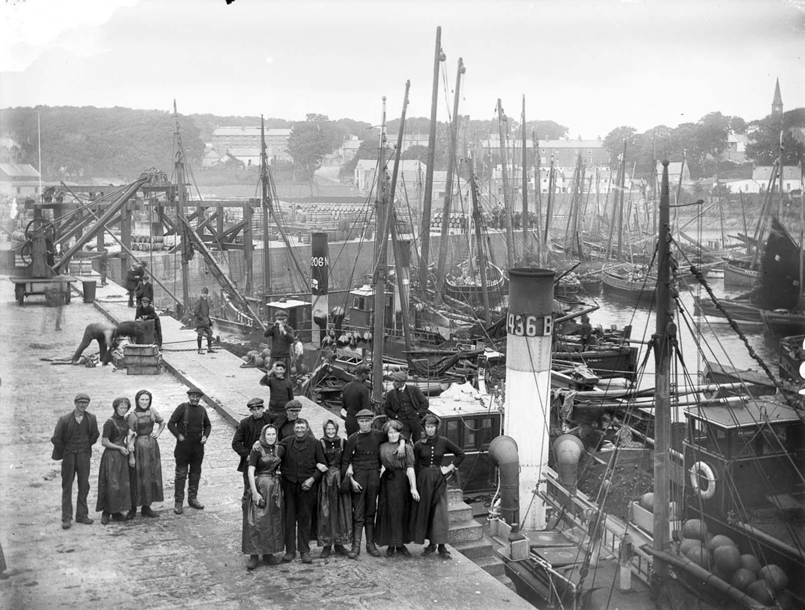 Fisher folk of Ardglass, County Down. 1910.