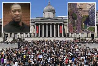 I Can't Breathe! George Floyd's deaths, thousands join UK protest.