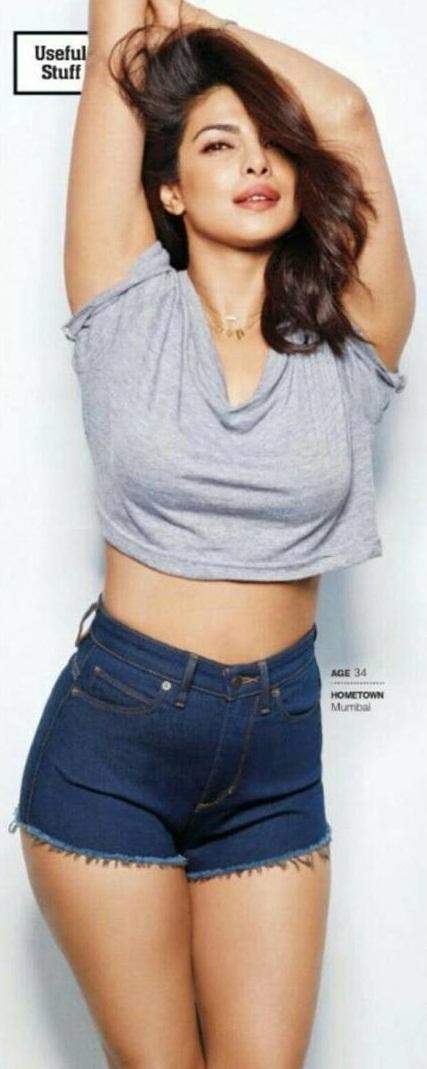 Priyanka Chopra in Denim Shorts
