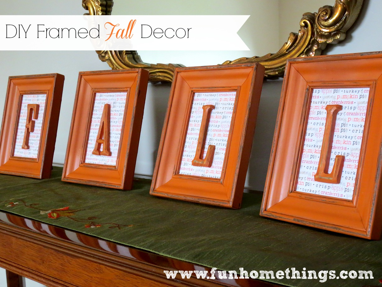 diy framed fall decor fun home things - Diy Fall Decor