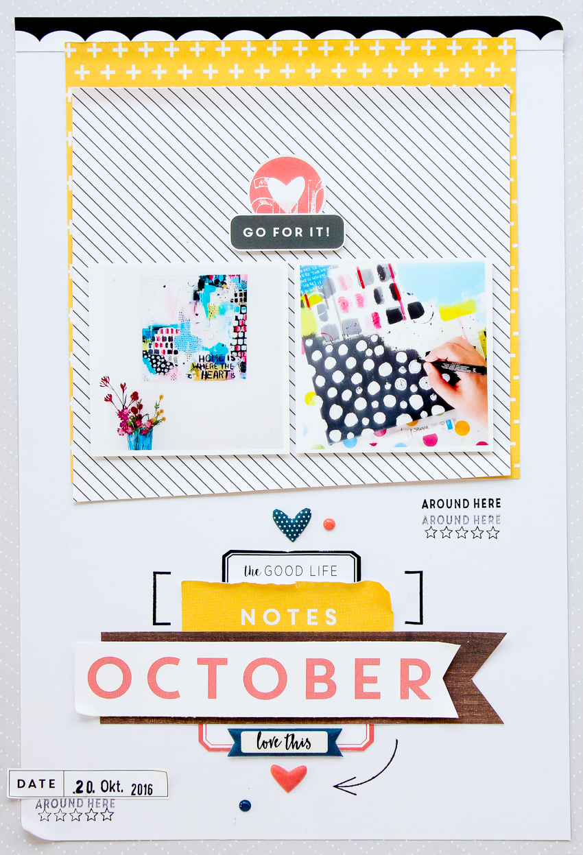 clean and simple scrapbooking layout by Janna Werner