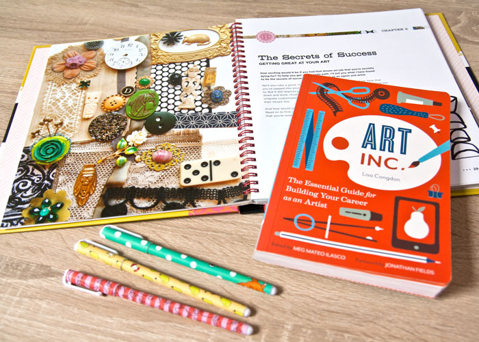 Close up picture of Lisa Congdon's and Lilla Rogers' Art business books