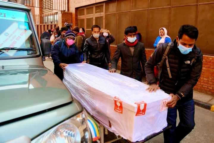 18 dead bodies of Nepalis brought home from Malaysia