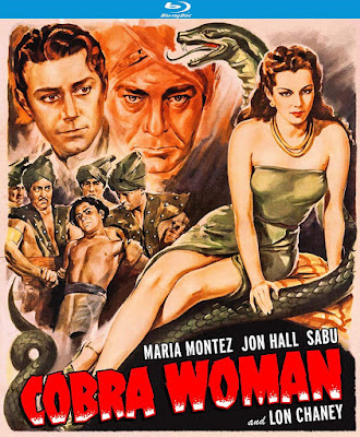 Cover art for Kino Lorber Studio Classics' upcoming Blu-ray of COBRA WOMAN!