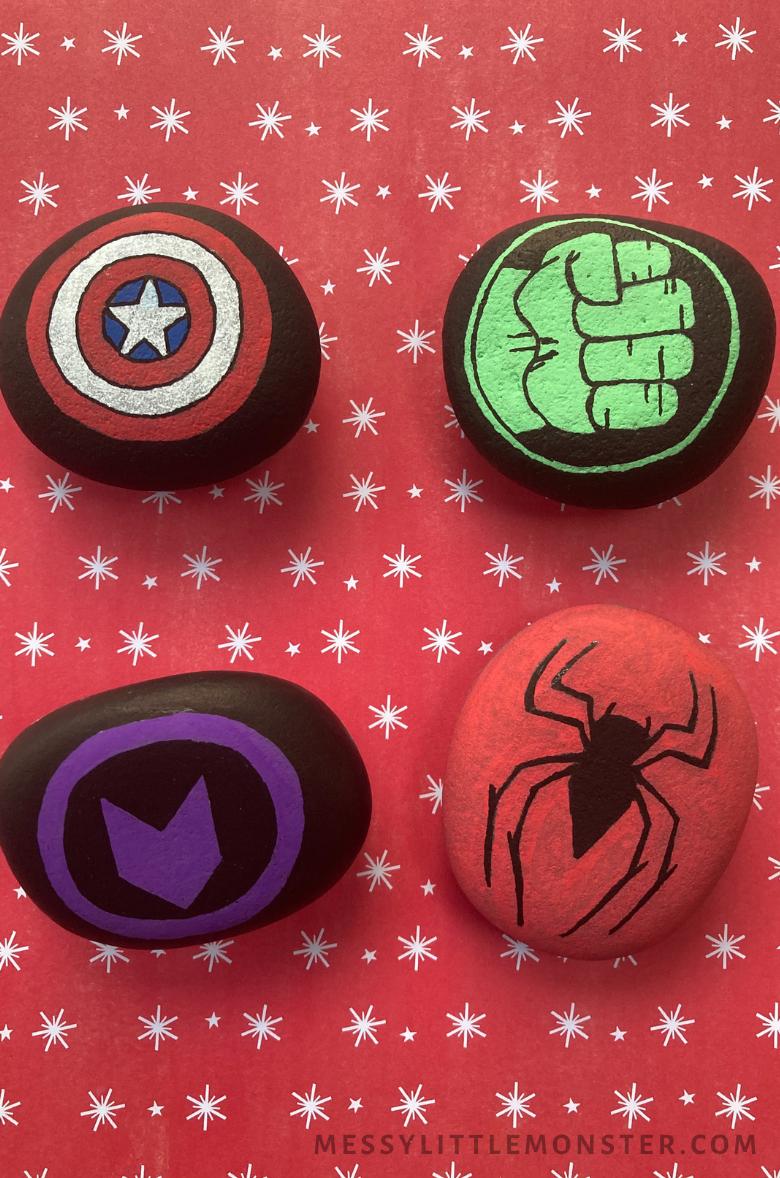 Superhero rock painting ideas