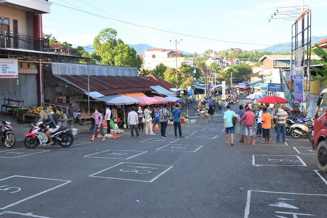 Walikota tinjau mulainya penerapan rekayasa Pasar Pinasungkulan