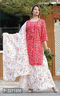 Kurtis With Skirt And Dupatta Set