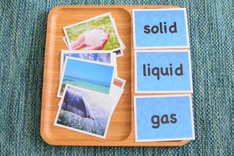FREE Properties of Water Sorting Cards