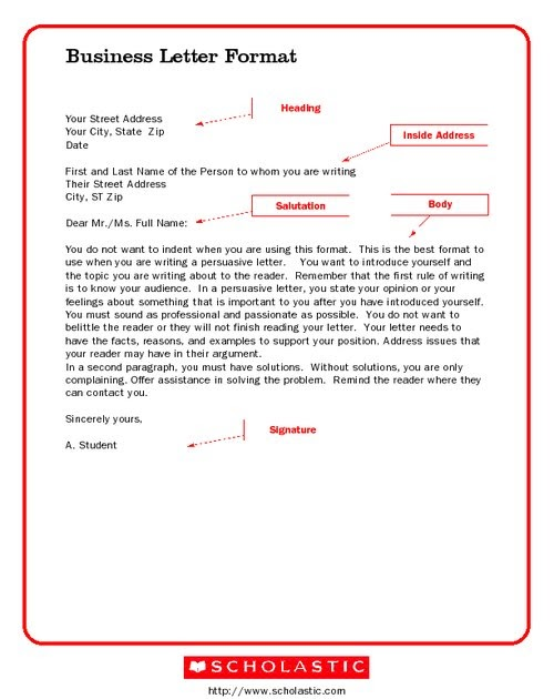 Earxagangnad Formal Letter Layout Sample