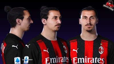 PES 2021 Faces Zlatan Ibrahimovic by Prince Hamiz