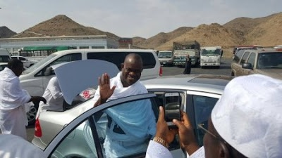 IN PICTURES: Kogi Governor, Yahaya Bello arrives Saudi Arabia for Hajj