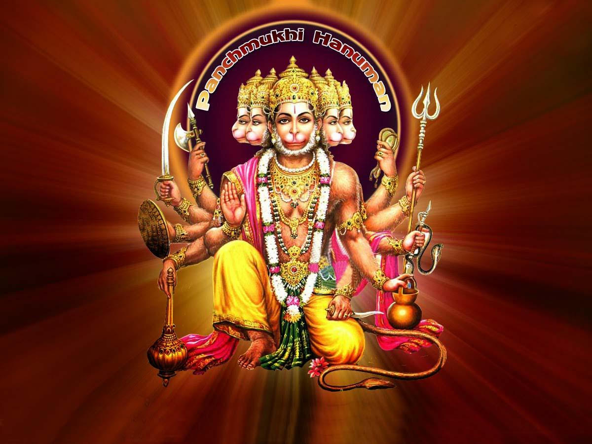 New hd images of hanumanji free download allfreshwallpaper - Panchmukhi hanuman image ...