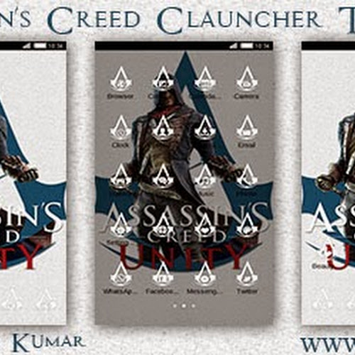 Assassin'S Creed HD C-Launcher Theme for Nokia X, Nokia XL