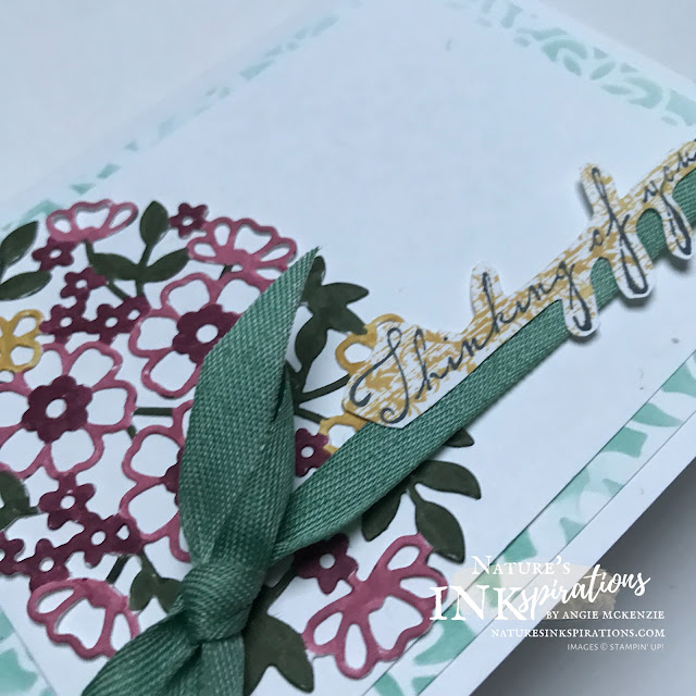 By Angie McKenzie for the Crafty Collaborations Paper Pumpkin Blog Hop; Click READ or VISIT to go to my blog for details! Featuring the inspiration from the Bouquet of Hope February 2021 Paper Pumpkin Kit using the Flowering Vines Dies, Tasteful Labels Dies and Woven Heirlooms Stamp Set by Stampin' Up!; #occasioncards #sympathycards #thinkingofyoucards #stamping #wovenheirloomsstampset #floweringvinesdies #tastefullabelsdies #stampinupdemo #januaryjune2021minicatalog #20202021annualcatalog  #20202022incolorsdesignerseriespaper #blendingbrushes #stencildiecuts #inspiredbypaperpumpkin #paperpumpkin #paperpumpkinbloghop #bouquetofhopefebruary2021kit #naturesinkspirations #makingotherssmileonecreationatatime #stampinup #coloringwithmarkers #handmadecards